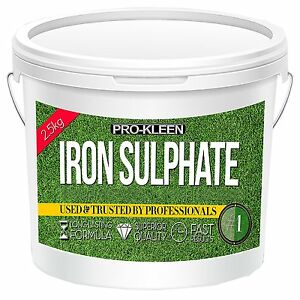 2.5KG IRON SULPHATE TONIC EVERGREEN GRASS TURF GREENER LAWN FEED