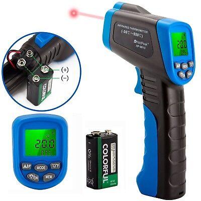 Infrared Temperature Gauge - Digital IR Infrared Laser Gun Thermometer Temperature Thermal Heat Sensor Gauge