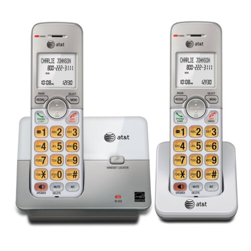 AT&T 2-Cordless Phone System with Caller ID - DECT 6.0 - Silver (EL51203) [LN]™