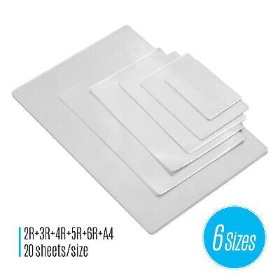 80mic Laminating Pouches Thermal Laminator Film Clear Sheet Photo Paper V5x2
