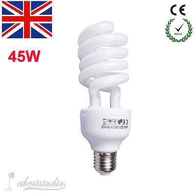Photo Studio E27 5500K 220V 45W Bulb Video Photography Daylight Lamp Energy Save