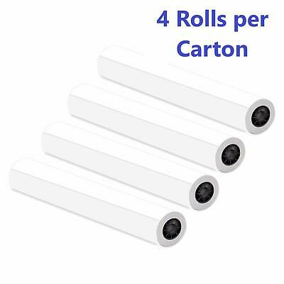 4 Ct Rolls 36x150 20lb Bond Cad Plotter Paper Inkjet 2 Core 92 Bright White