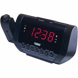 New Naxa LED Display Projection Dual Alarm Clock AM/FM Radio Buzzer Snooze AC/DC