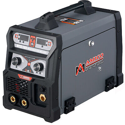 Mts-185 Amp Migflux Cored Tig Torch Stick Arc 3-in-1 Combo Welder 110v 230v