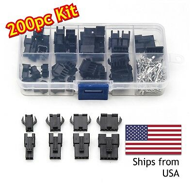 200pcs 2345 Pin 2.54mm Jst Malefemale Jumper Header Housing Wire Connector