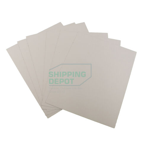 "200 White + Brown Chipboard 8.5x11 Cardboard Scrapbook Sheets .022 8.5""x11"""