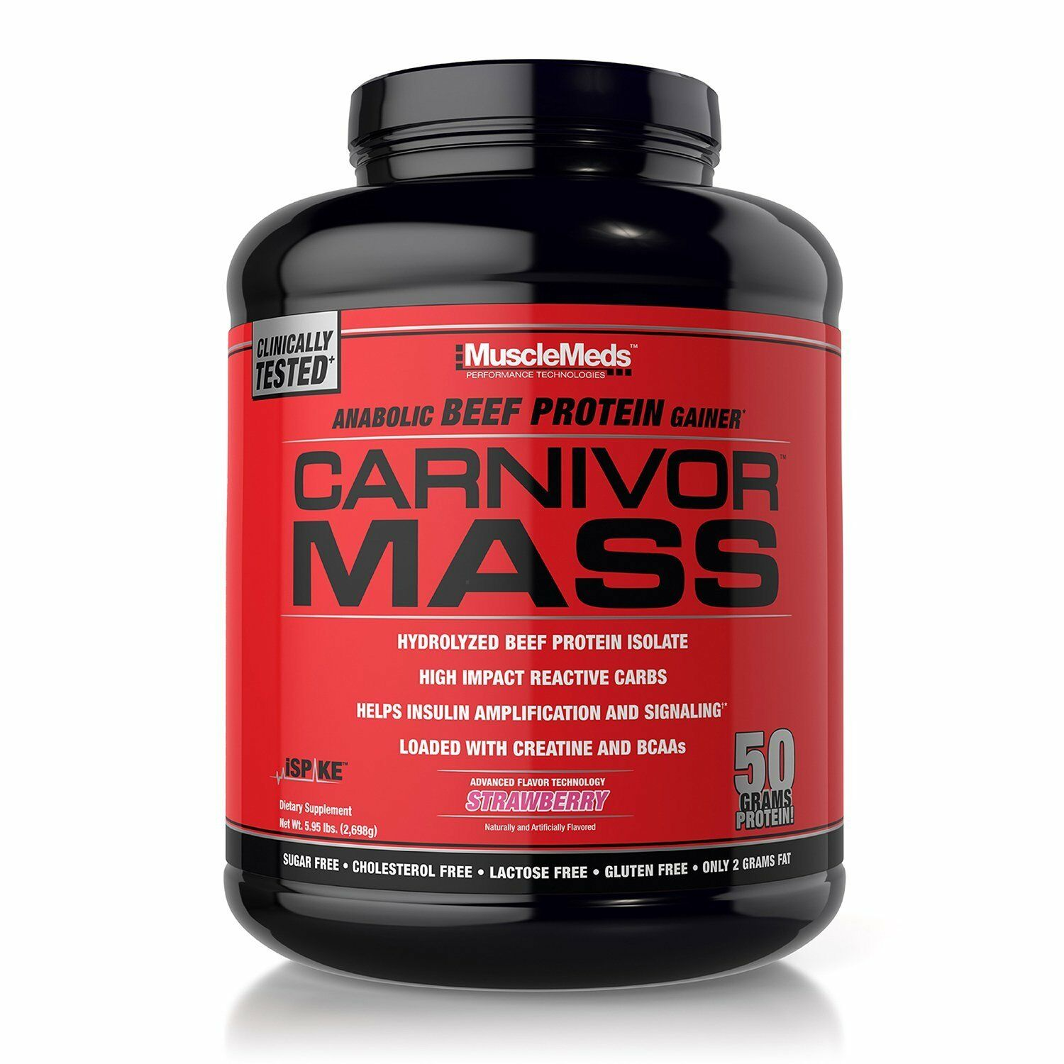 MuscleMeds CARNIVOR MASS 6 lbs Anabolic BEEF PROTEIN Gainer