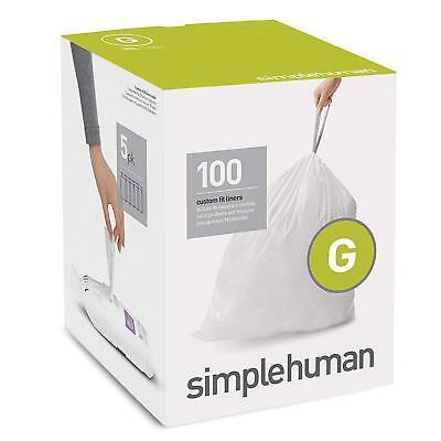 8 Gallon Trash Can - Simple Human Drawstring Trash Bags 100 pk Custom Fit 8 Gallon Garbage Can Code G