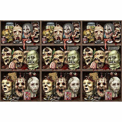 Insta-Theme Scary Heads Backdrop Halloween Zombie Decor Wall Border Backdrop
