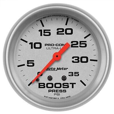 AutoMeter 4404 Ultra-Lite Mechanical Boost Pressure 0-35 psi Gauge 2-5/8