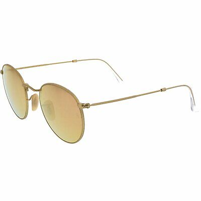 Ray-Ban Men's Mirrored Icons RB3447-112/Z2-50 Gold Round (Ray Ban Icons)