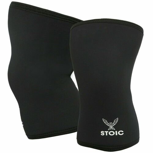 Stoic 7MM Knee Sleeves for Powerlifting Weight Lifting Professional Size M - New