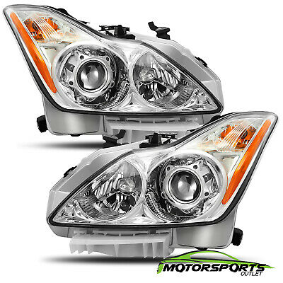 For 2008-2015 Infiniti G37/Q60 Coupe Factory Style Chrome Headlights -