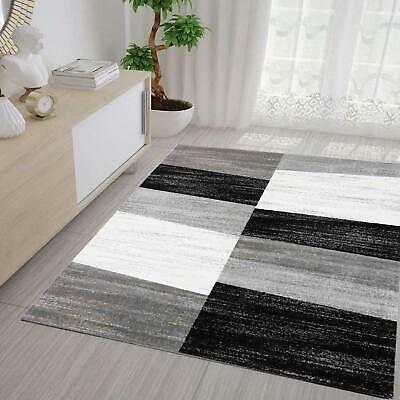 ünstig Meliert in Grau Weiß und Schwarz NEU (Schwarz Und Weiß Teppich Läufer)