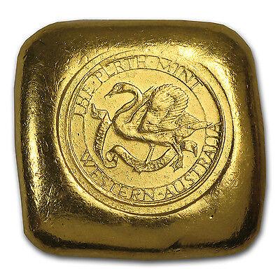 1 oz Gold Square Button - Perth Mint - SKU #56505