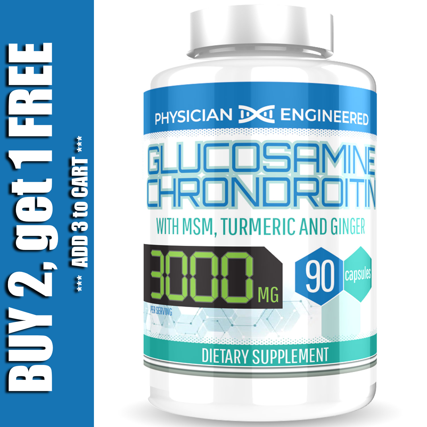 Glucosamine Chondroitin with COLLAGEN TYPE II 2 MSM Turmeric