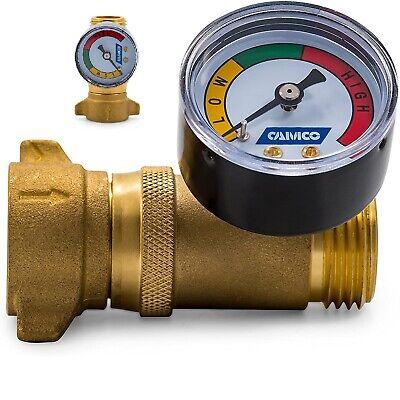 Water Pressure Regulator Valve With Gauge Rv Trailer Pipes Motorhome Boat Plumb