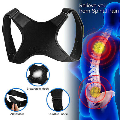 Adjustable Back Posture Corrector Shoulder Straight Support Brace Belt Men Women ()