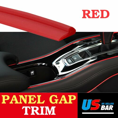Car Parts - 10Feet Door Panel Gap Trim Molding Moulding Strip Line Red For Car Accessory
