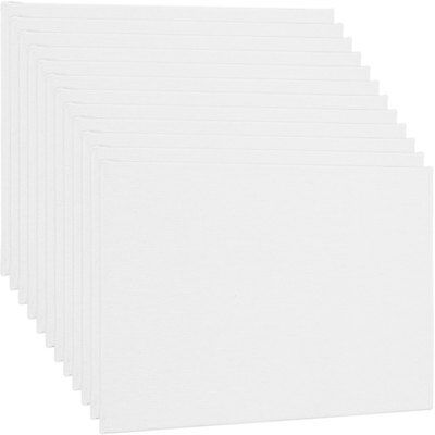Blank Cotton Canvas Panels 11 X14  12 Pk Mounted Art Boards Paint Supplies Craft