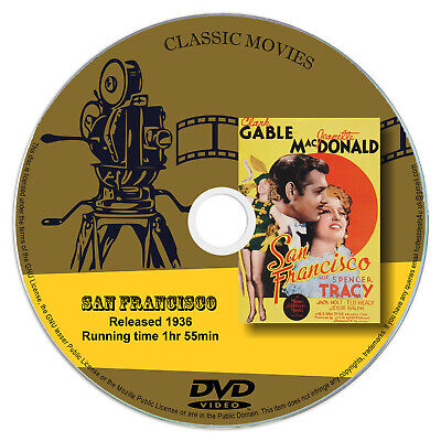 1936 Clark Gable (San Francisco - Clark Gable, Jeanette MacDonald - Musical, Romance - 1936 DVD)