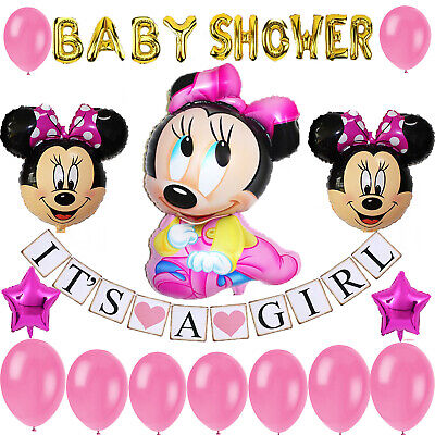 Minnie Mouse Baby Shower Decoration for girl pink Party Decoration/Baby Girl Ban