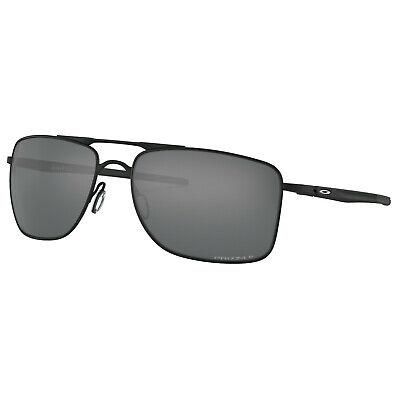 Oakley Men's Polarized Gauge 8 0OO4124-41240262 Black Rectangle Sunglasses