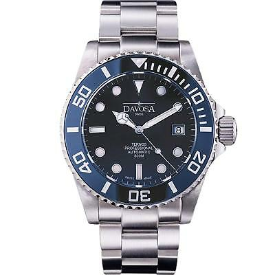 Davosa Swiss Automatic Analog Ternos Professional 16155940 Mens Wrist Watch Blue