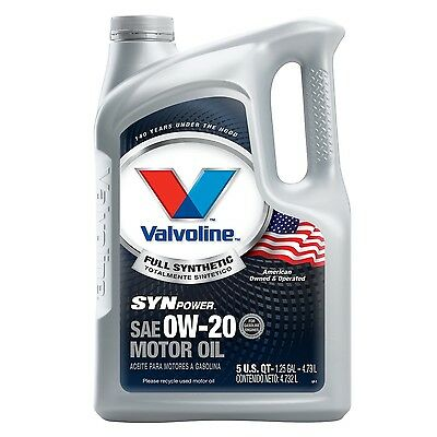 Valvoline 813460 SynPower SAE 0W-20 Full Synthetic Motor Oil