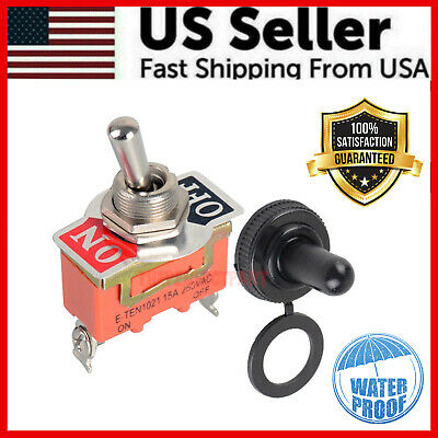 Toggle Switch Heavy Duty 20a 125v Spst 2 Terminal Onoff Car Waterproof Atv Usa