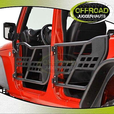Tubular Doors With Mirror  (4 Door Only) for 07-17 Jeep Wrangler JK&JK Unlimited