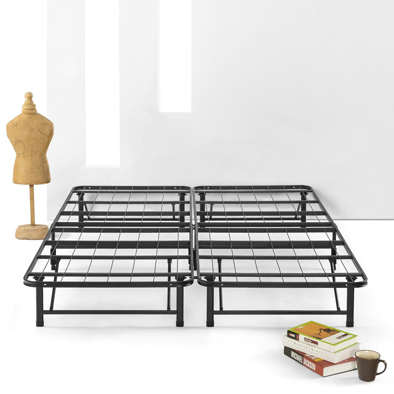 Best Price Mattress SIMPLE EASY Bi-Fold Metal bed frame w/ Under bed Storage