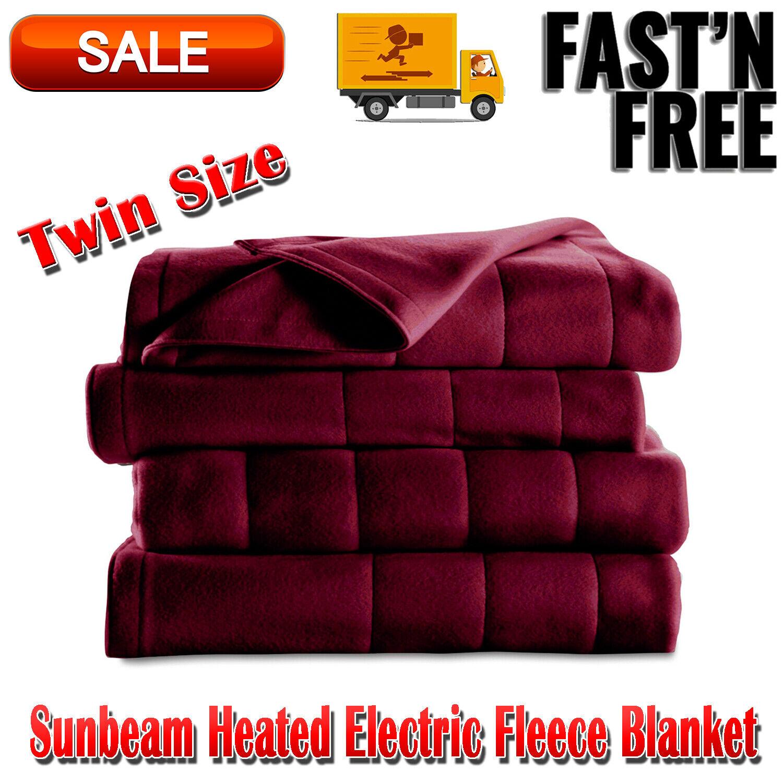 heated electric fleece blanket w 5 heat