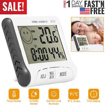 Digital Lcd Indooroutdoor Thermometer Hygrometer Temperature Humidity Monitor