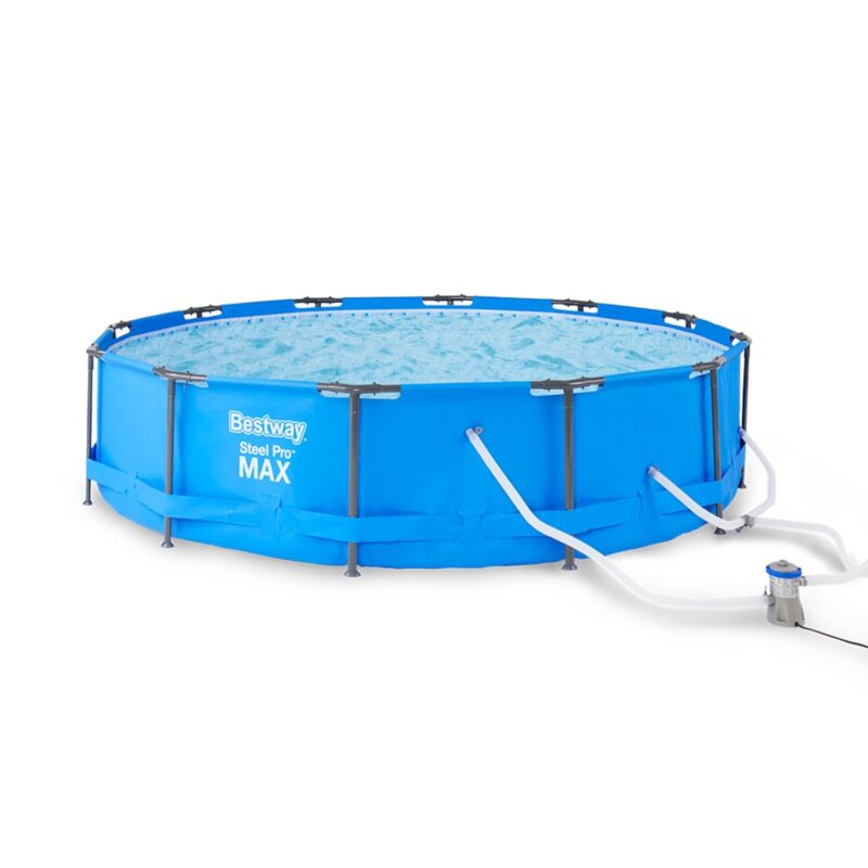 Bestway Steel Pro Max 15ft x 42in Frame Above Ground Swimming Pool Set with Pump
