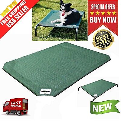 Replacement Cover for Large Dog Bed Elevated Indoor Raised Pet Cot Outdoor Green