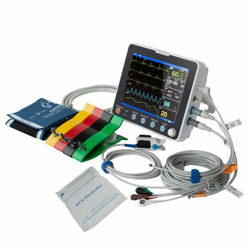 "NEW 8""Multi-parameter Monitor ICU CCU Vital Sign Dental Patient Monitor ECG NIBP"