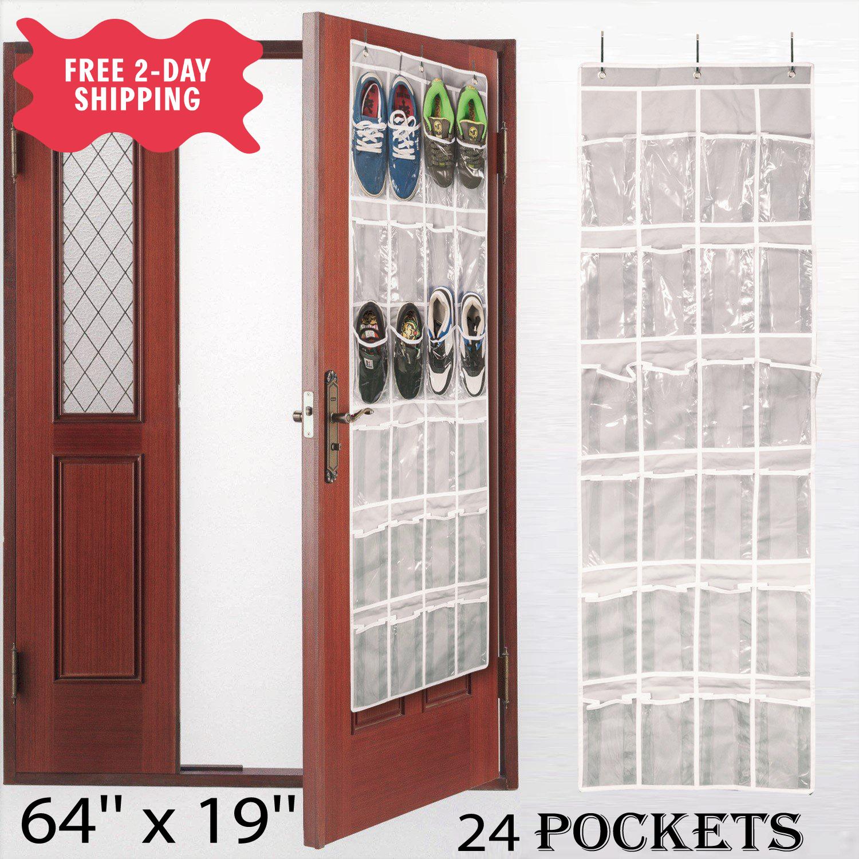 Over The Door Shoe Organizer Rack For Closet easy to hang sp