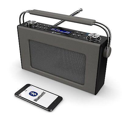 Cottenham Portable Digital DAB+ / DAB FM Radio Bluetooth Leather Effect Finish