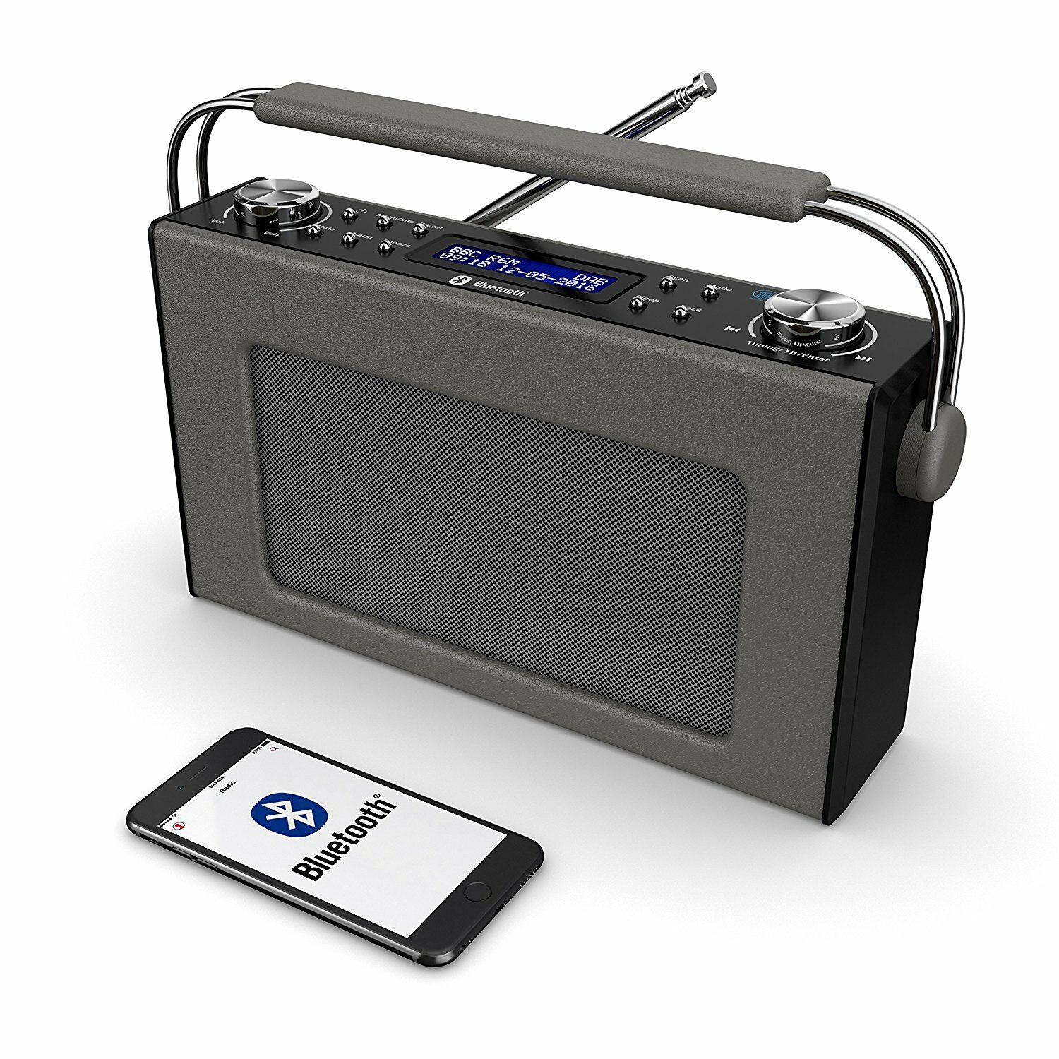 cottenham portable digital dab dab fm radio bluetooth. Black Bedroom Furniture Sets. Home Design Ideas