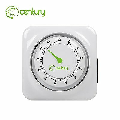Century 12 hour mechanical countdown Grounded timer 3 Prong outlet Energy Saving