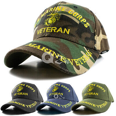 US Military Marine Veteran Adjustable Polo Baseball Cap Hat Navy Army Air Force
