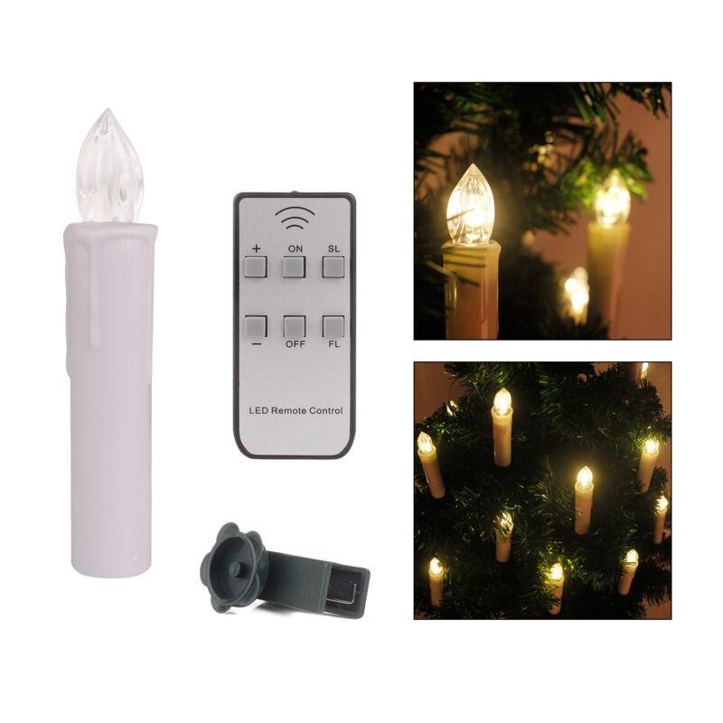 30X Kabellose LED Weihnachtskerzen Lichterkette Kerzen Christbaumkerzen RGB