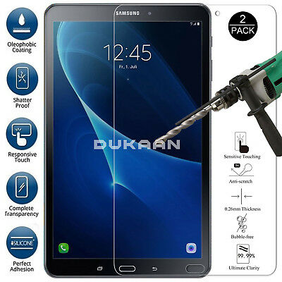 "2 PACK TEMPERED GLASS Screen Protector For Samsung Galaxy Tab A6 7"" SM-T285/T280"