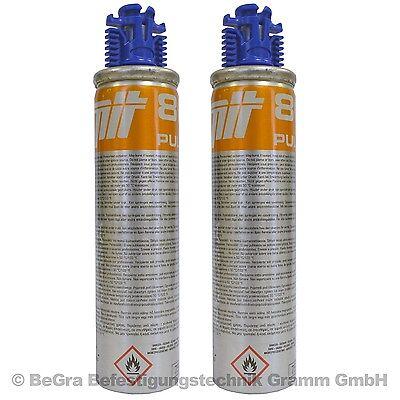 2 x Ersatz Gaskartuschen Gas Brennstoff für Spit Pulsa 800 800P 800E Original