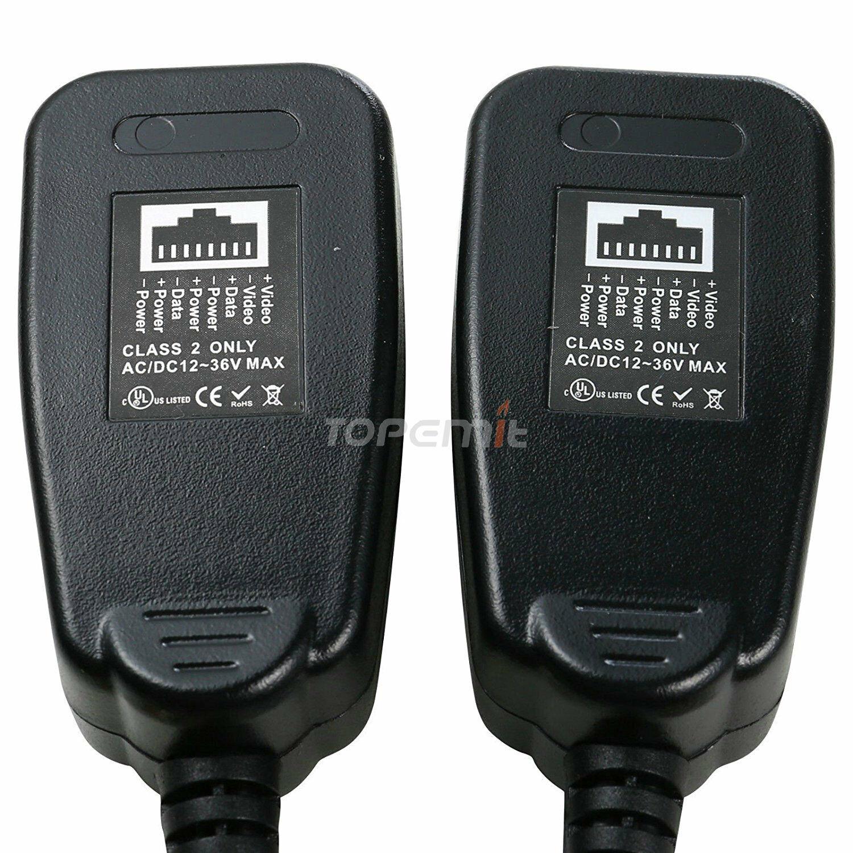 LS PVD Video Balun Power Video Data CCTV PTZ UTP BNC to RJ45 CAT5 Lot 2-20Pairs