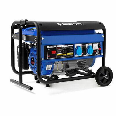 EBERTH 3000 Watt Benzin Stromerzeuger Generator Notstromaggregat mit Fahrwerk
