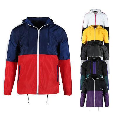 Beautiful Giant Men's Casual Hood Full Zip Lightweight Windbreaker Active Jacket Full Zip Windbreaker