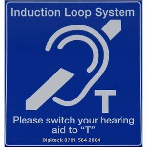 Z8l3 Induction Loop System Sign Church School Business