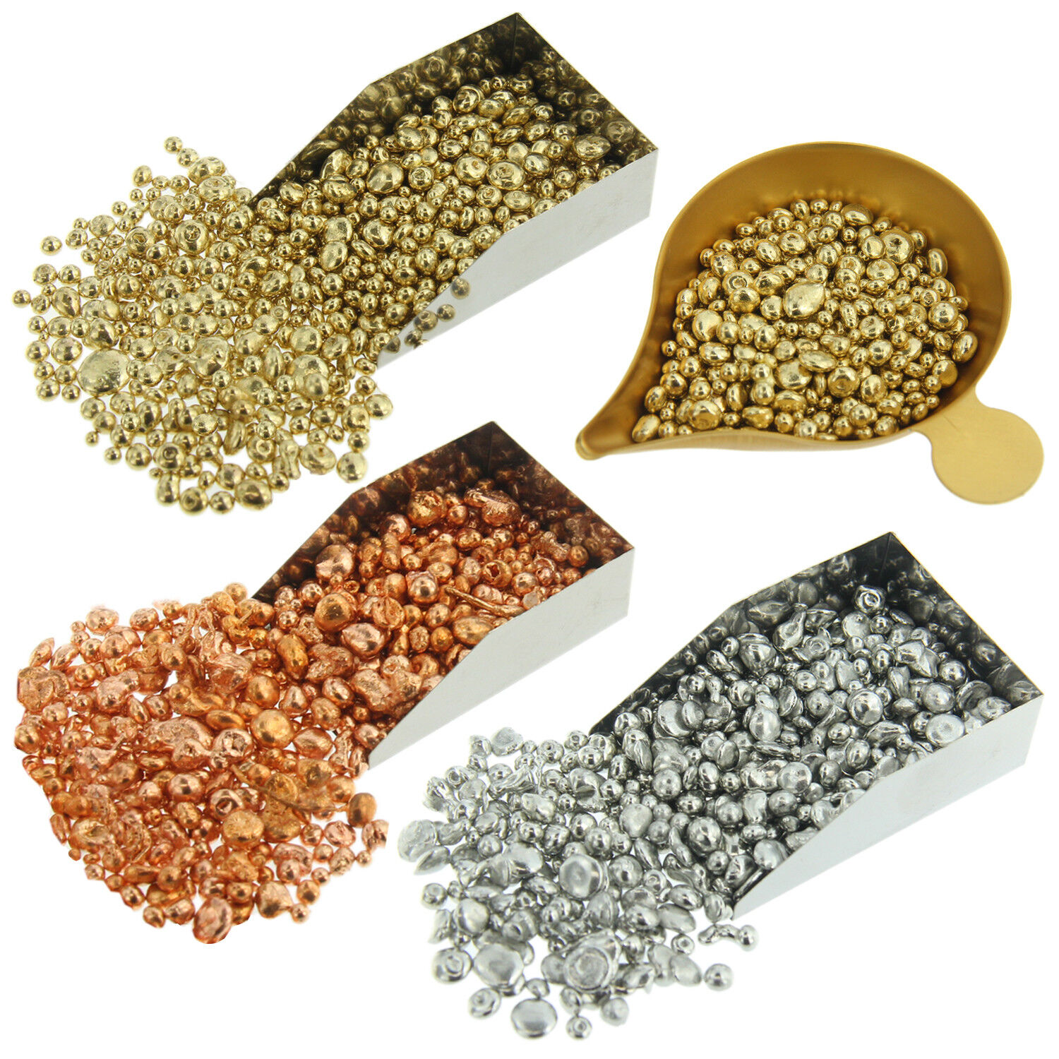 Yellow Pink White Casting & Rolling Alloy 1oz Casting Grain